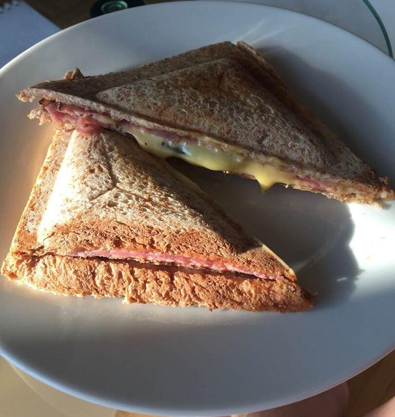 Leckers Sandwich aus dem Sandwichtoaster