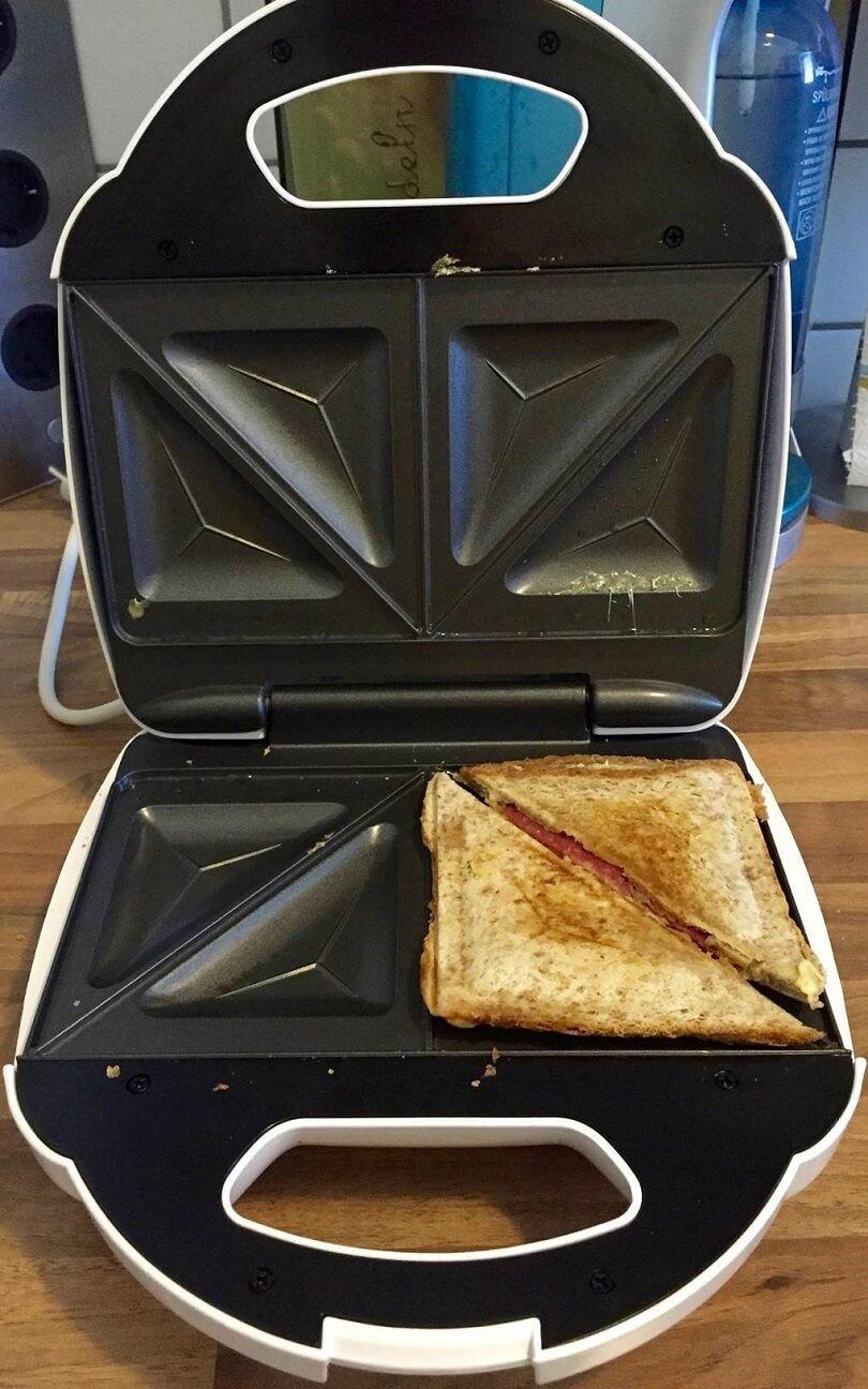 Sandwich im Sandwichmaker